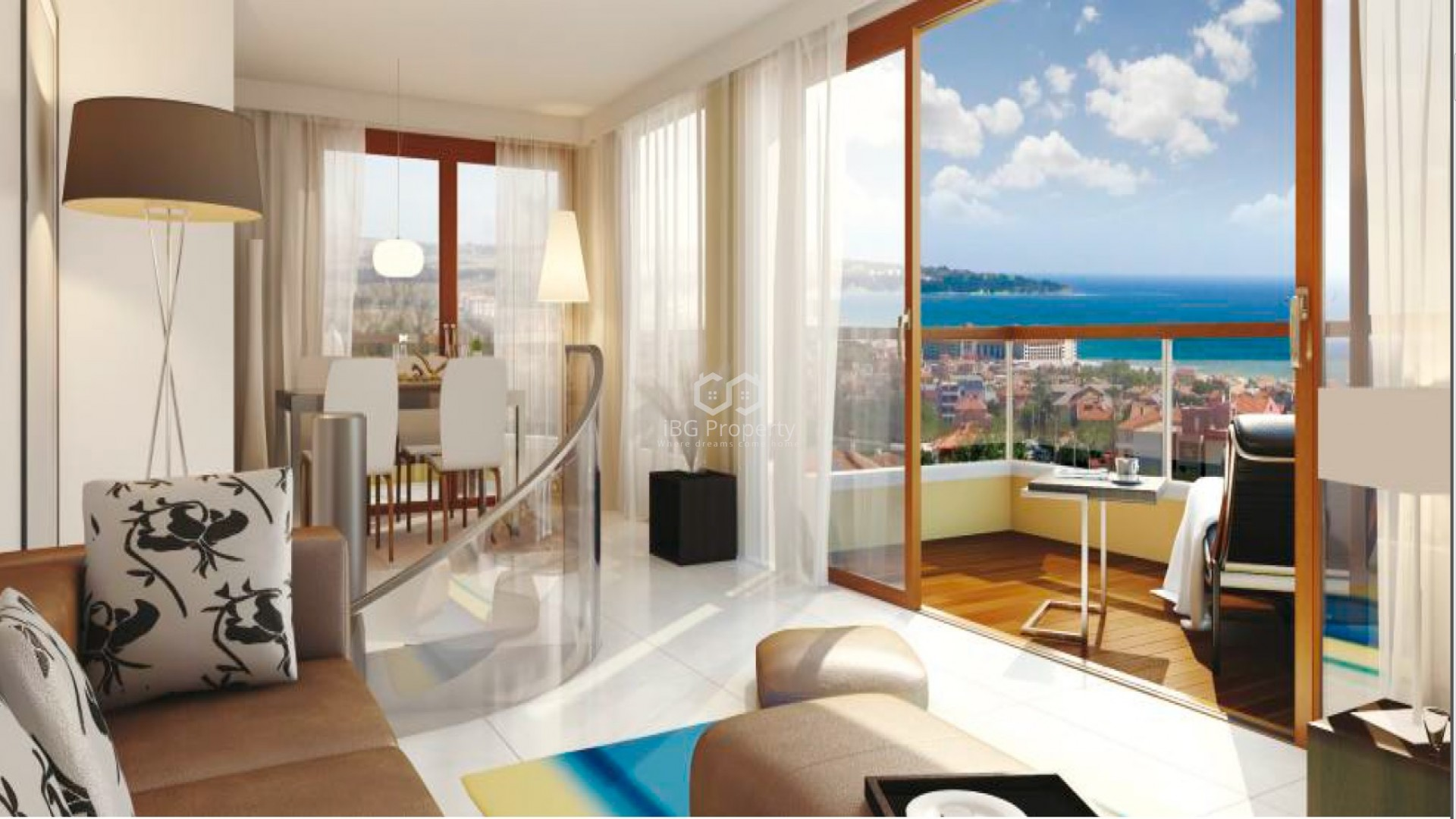 Двустаен апартамент Обзор 103 m2